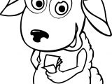 Cartoon Sheep Coloring Page