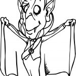 Cartoon Vampire Coloring Page