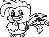 Chicken Baby Farm Animal Coloring Page