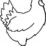 Chicken Farm Animal Coloring Page