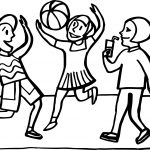 Children Beach Sports Activity Coloring Page