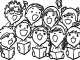 Children Singing Coloring Page