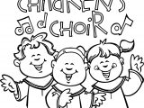 Children Singing In Church Coloring Page