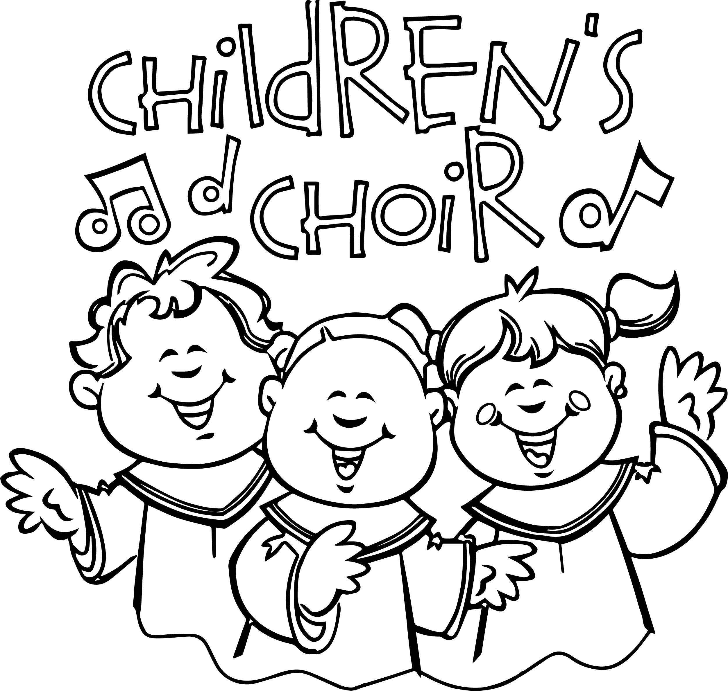Children Singing In Church Coloring Page | Wecoloringpage.com