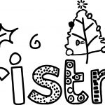 Christmas Text Coloring Page
