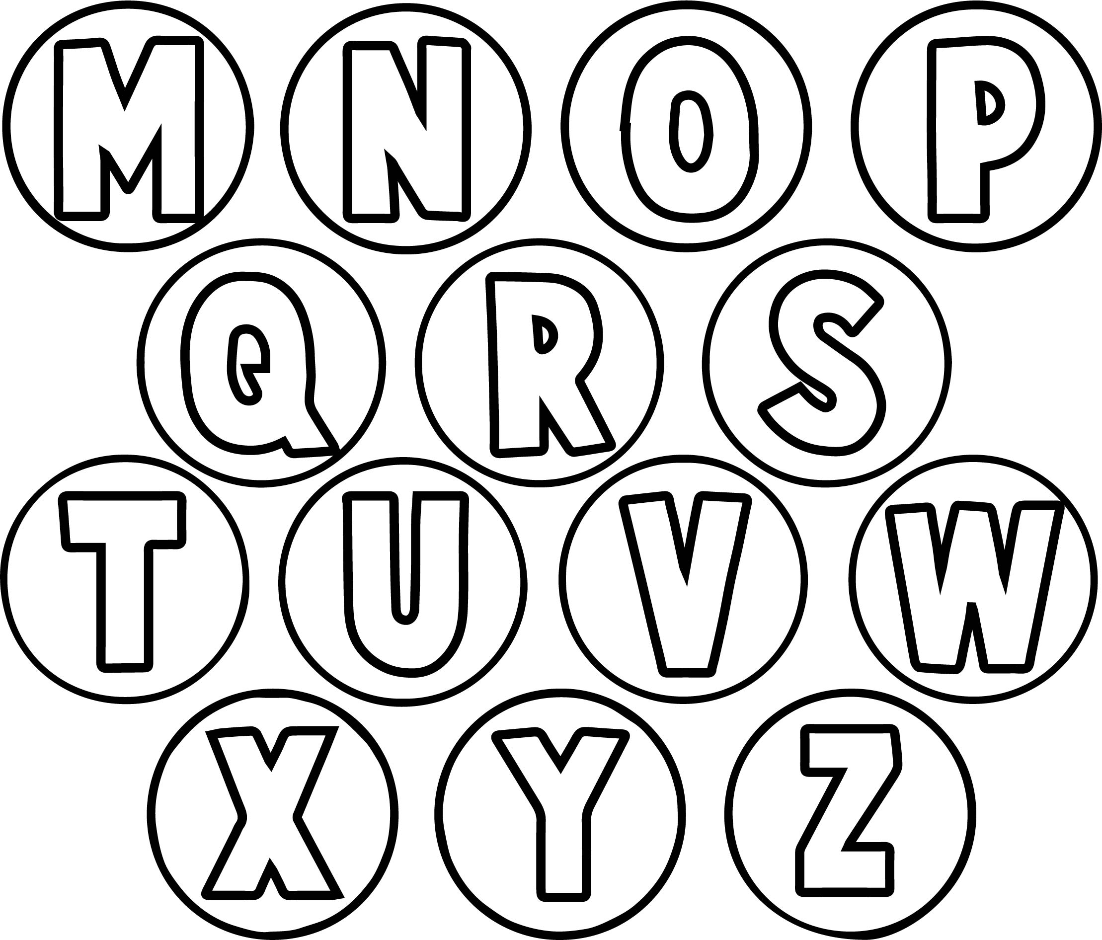 circle alphabet letter coloring page wecoloringpage