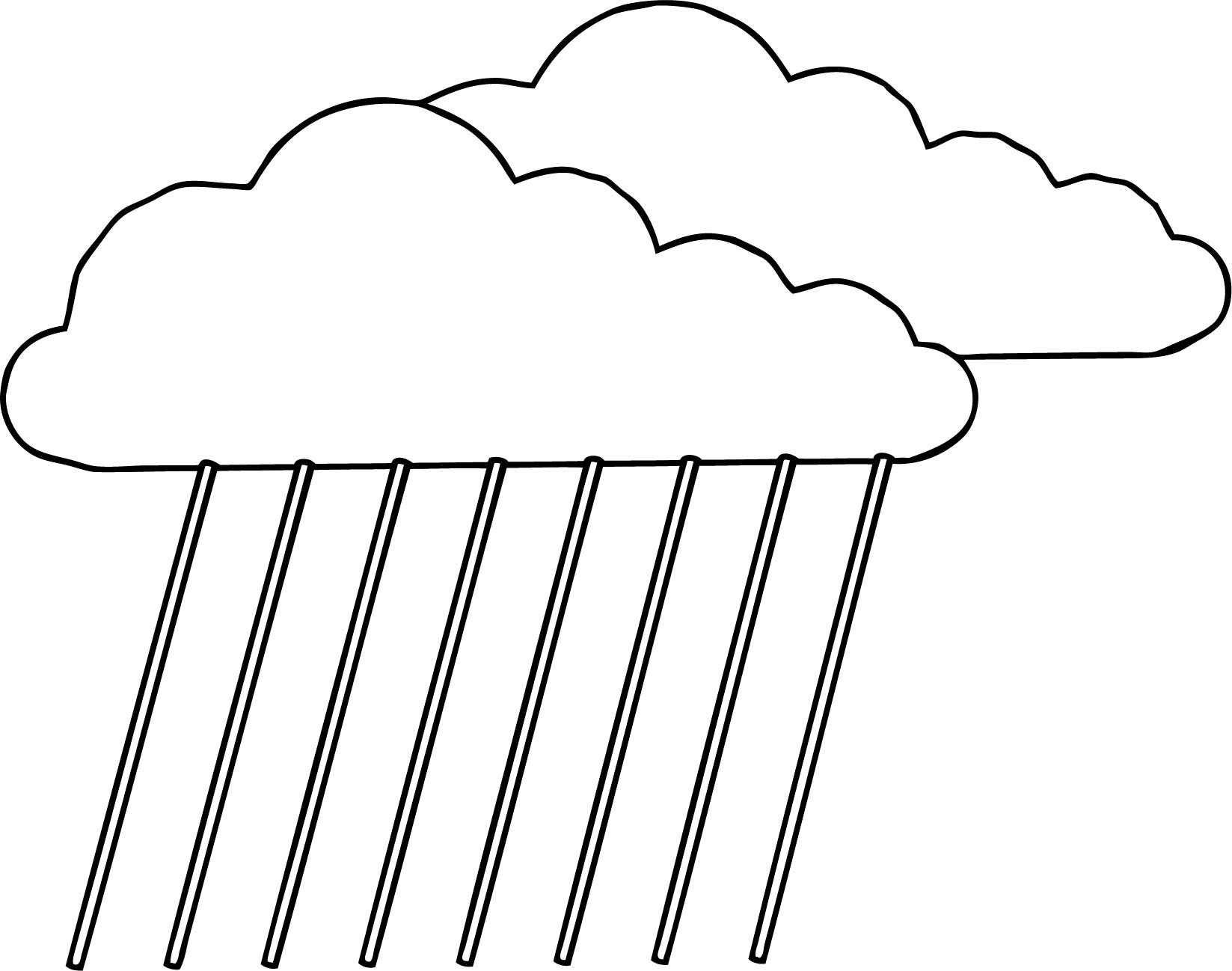 Cloudsrain Coloring Page