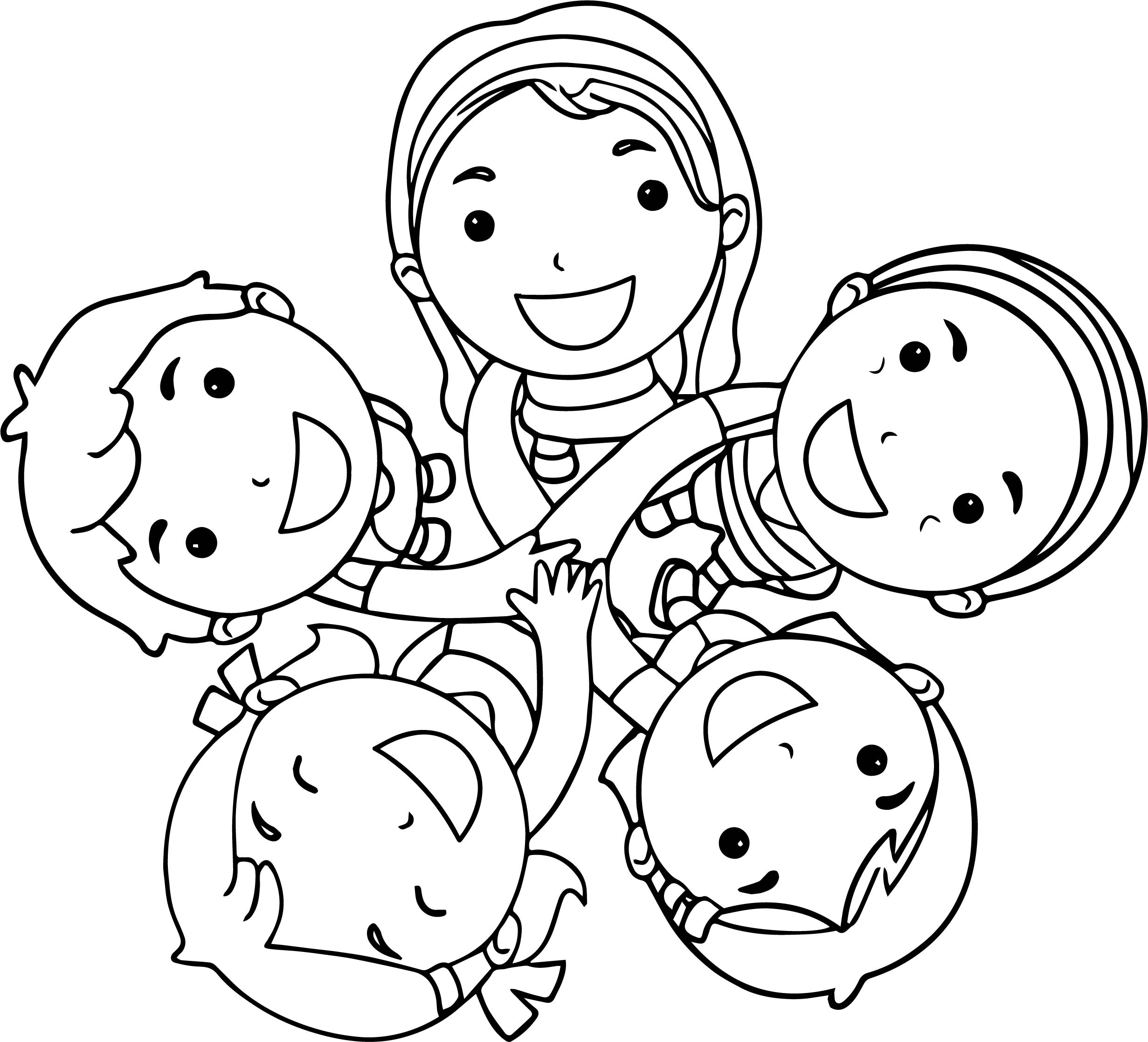 Cover Kids Activity Coloring Page