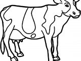 Cow Farm Animal Coloring Page