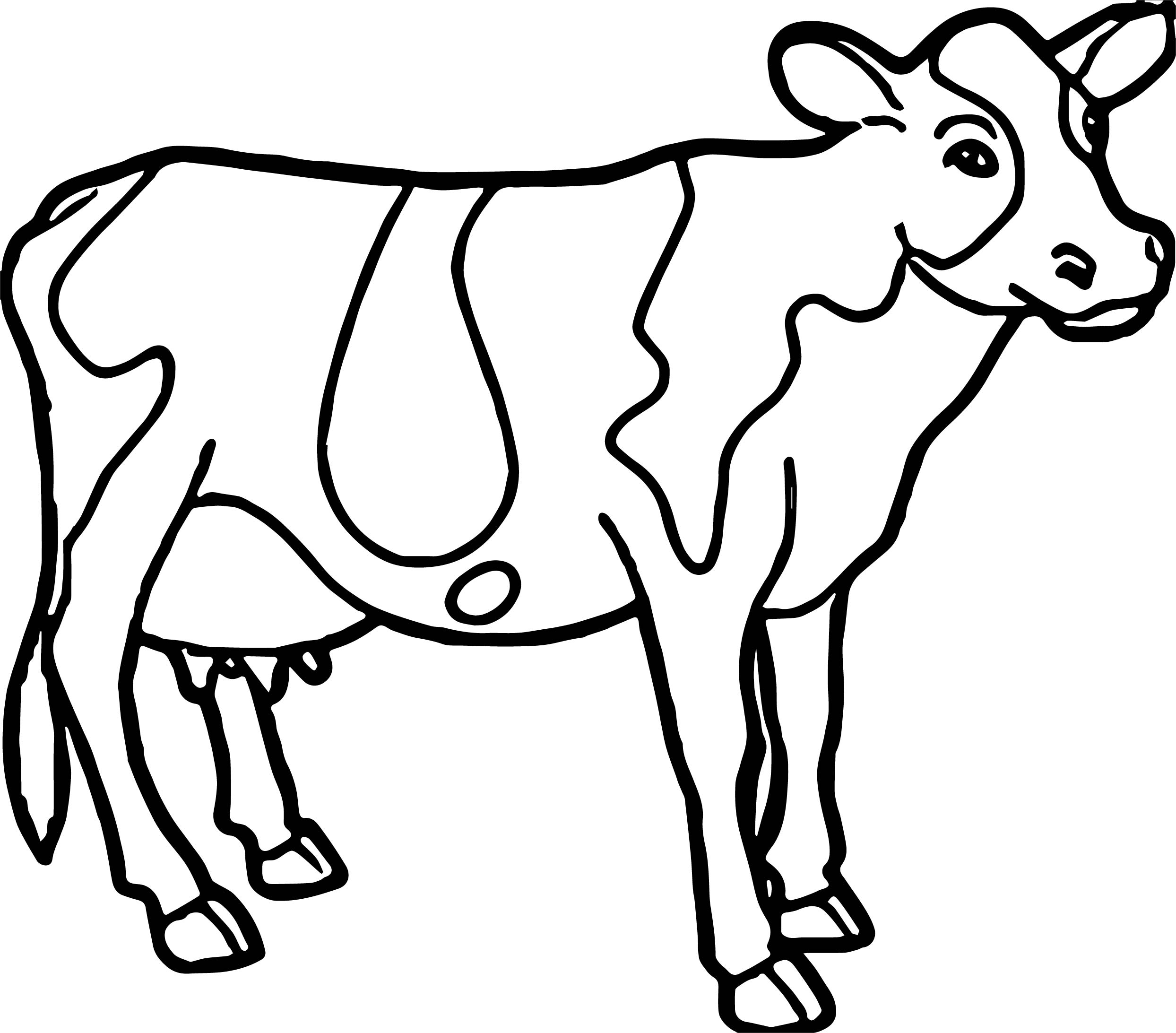 Cow farm animal coloring page Coloring book pictures of farm animals