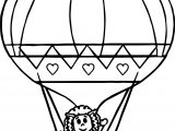 Cute Air Balloon Coloring Page