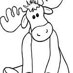 Cute Alaska Moose Coloring Page