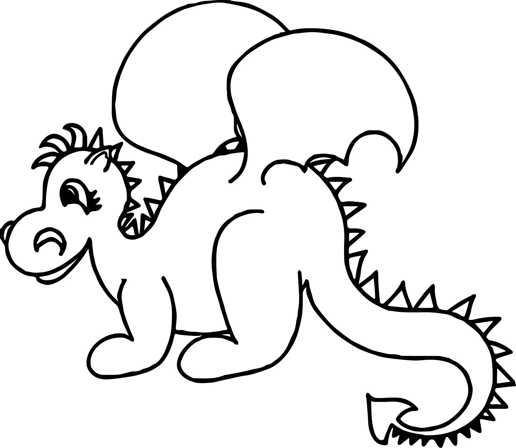 Cute Baby Dragon Coloring Page