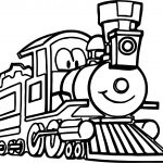 Cute Cartoon Train Coloring Page