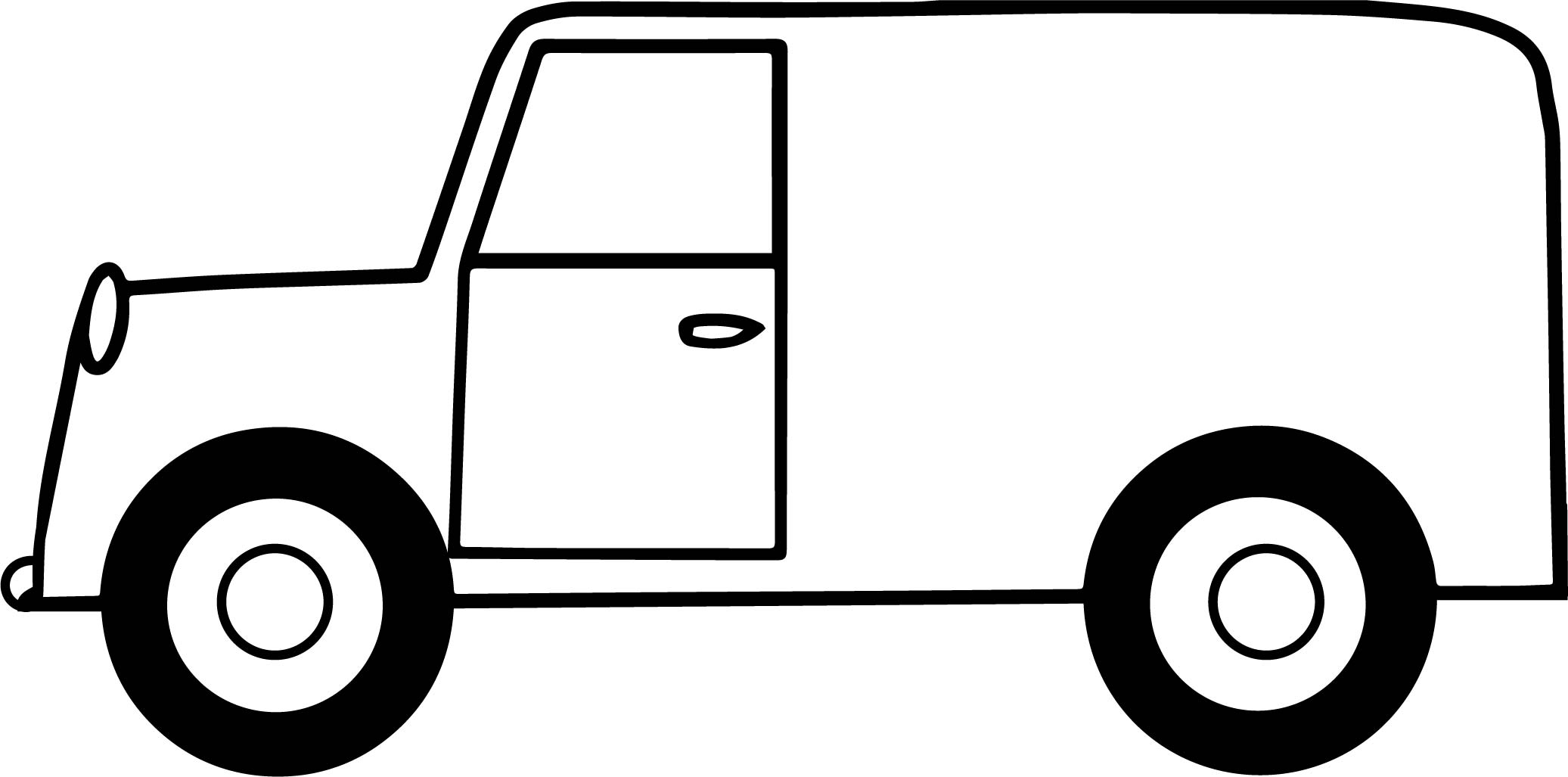 Delivery Truck Long Photo Coloring Page