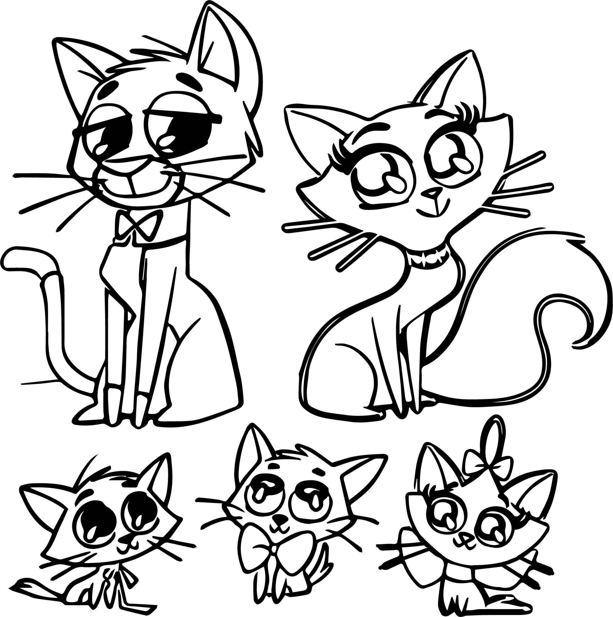 Disney The Aristocats Family Coloring Page