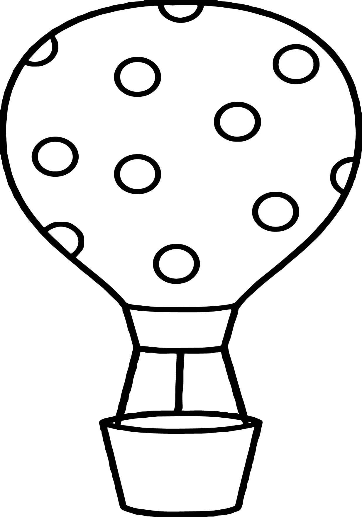 Dotting Air Balloon Coloring Page
