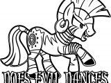 Evil Dance Enchantress Zecora Coloring Page