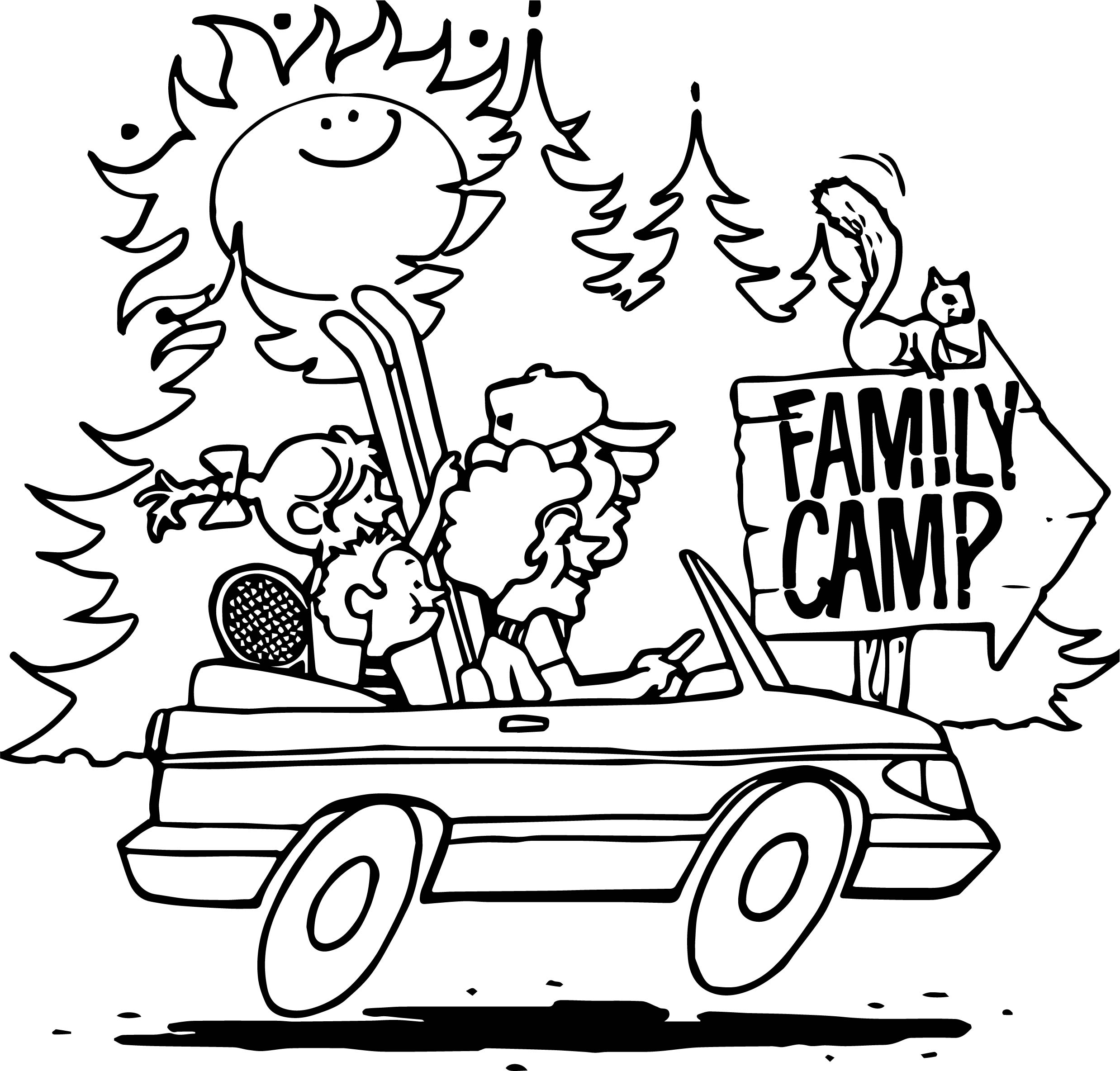 Family Camp Coloring Page