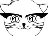 Farm Cat Animal Coloring Page