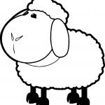 Farm Sheep Animal Coloring Page