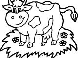 Farm Yard Animal Cow Coloring Page