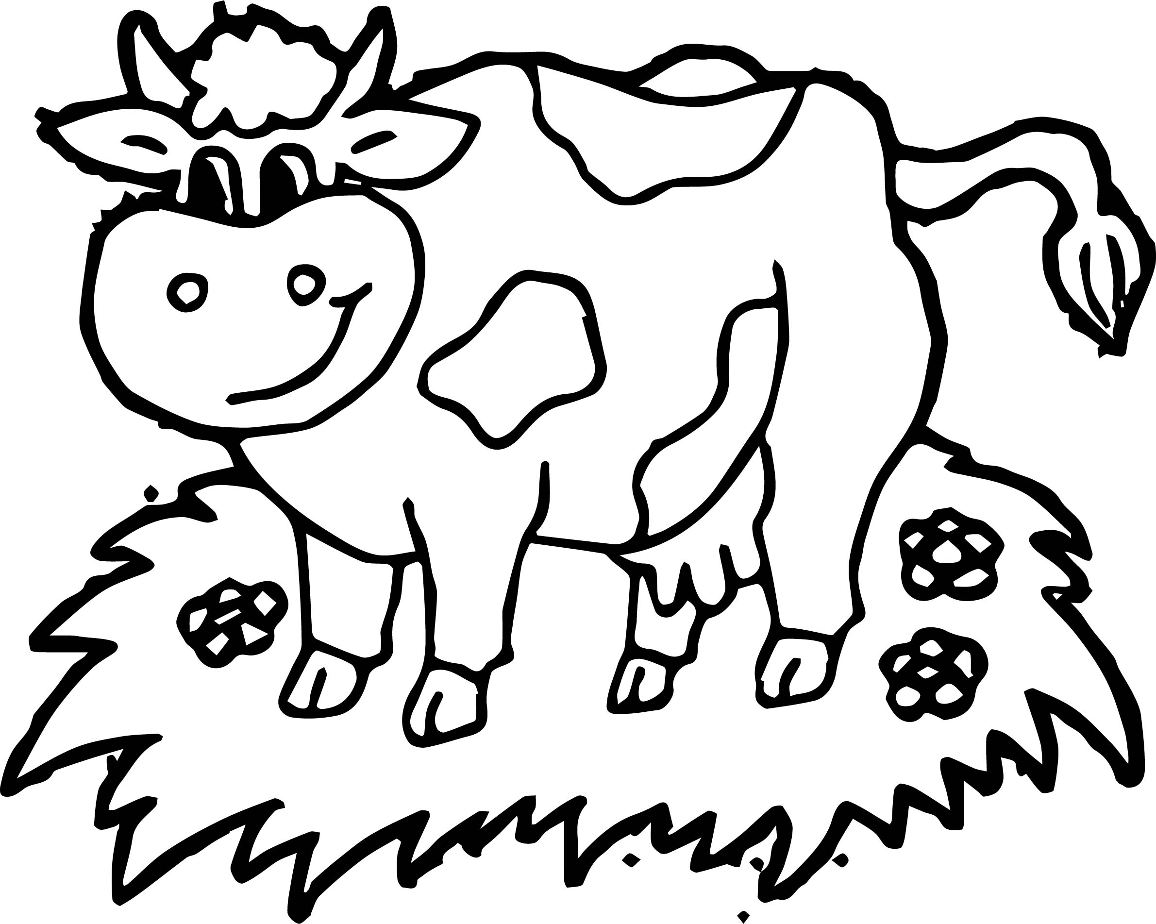 farm yard animal cow coloring page - Cow Coloring Page