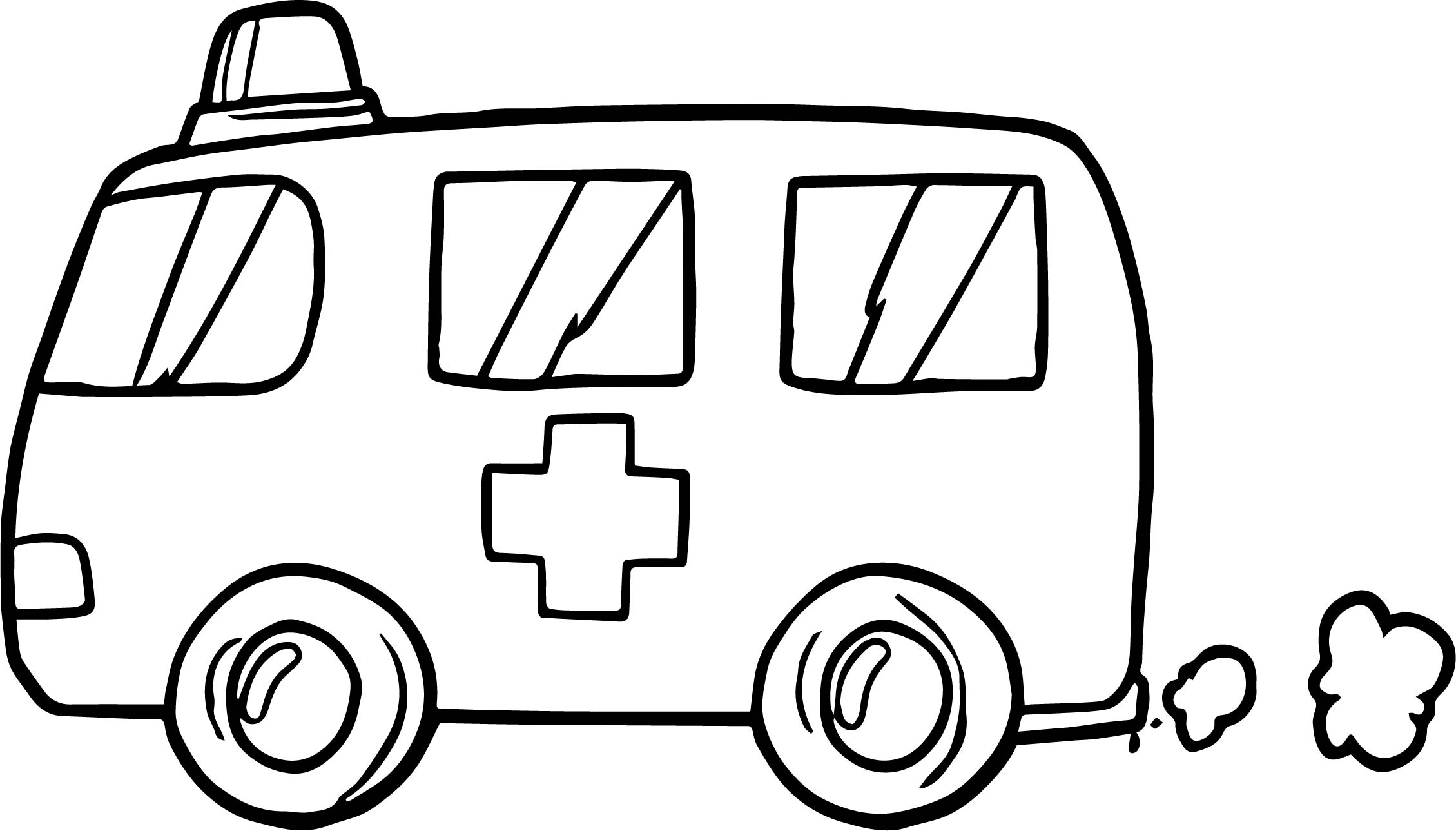 car coloring pages ambulance virtren com