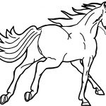 Fast Arabian Horse Coloring Page