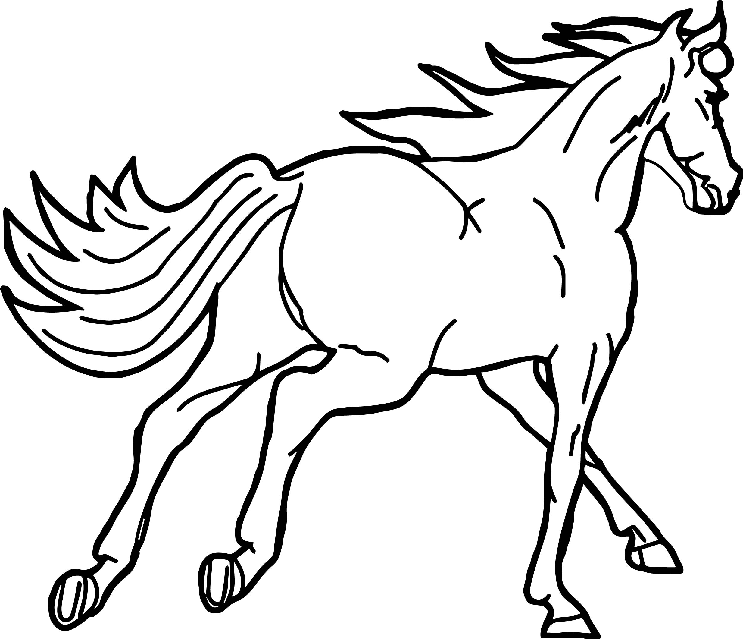 Fast Arabian Horse Coloring Page | Wecoloringpage.com