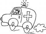 Fastest Ambulance Coloring Page