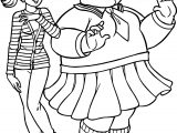 Fat And Weak Turma Da Monica Coloring Page