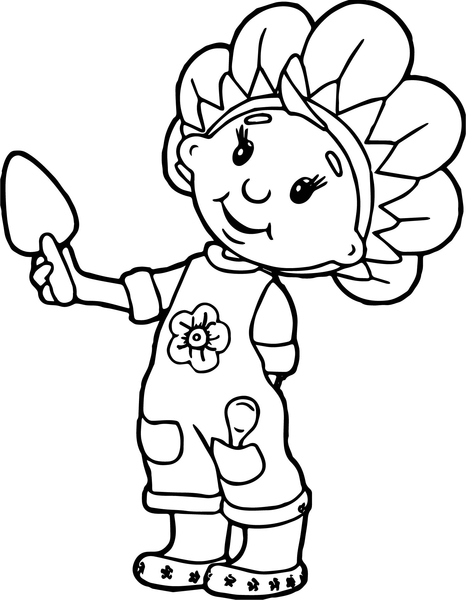 Fifi Girl Coloring Page