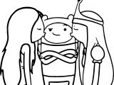 Finn And Girls Coloring Page