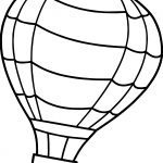 Flip Air Balloon Coloring Page
