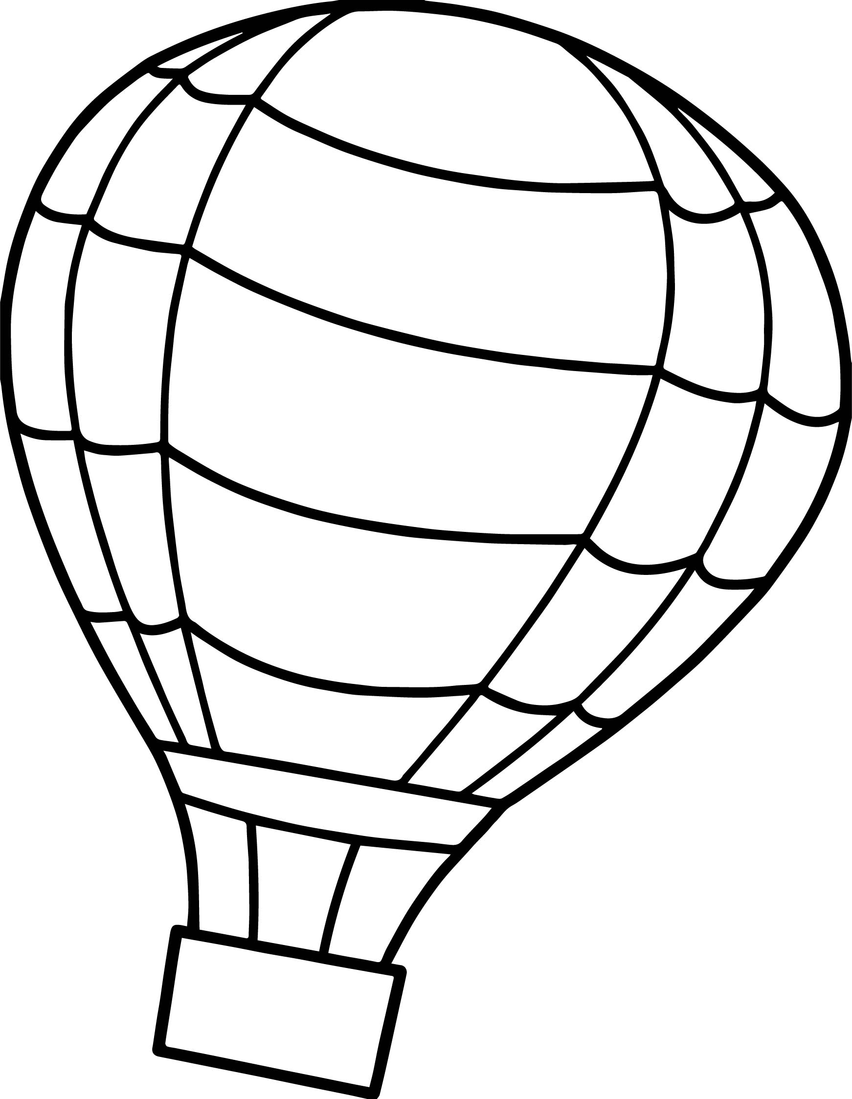 Flip air balloon coloring page for Balloon coloring pages