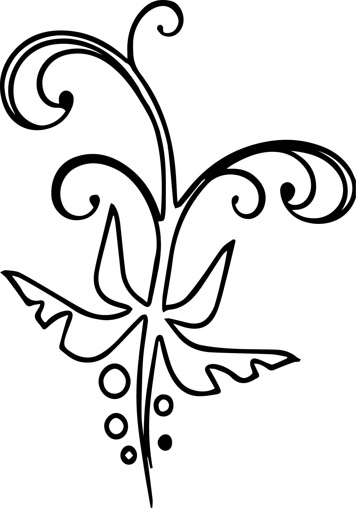 Floral Abstract Coloring Page