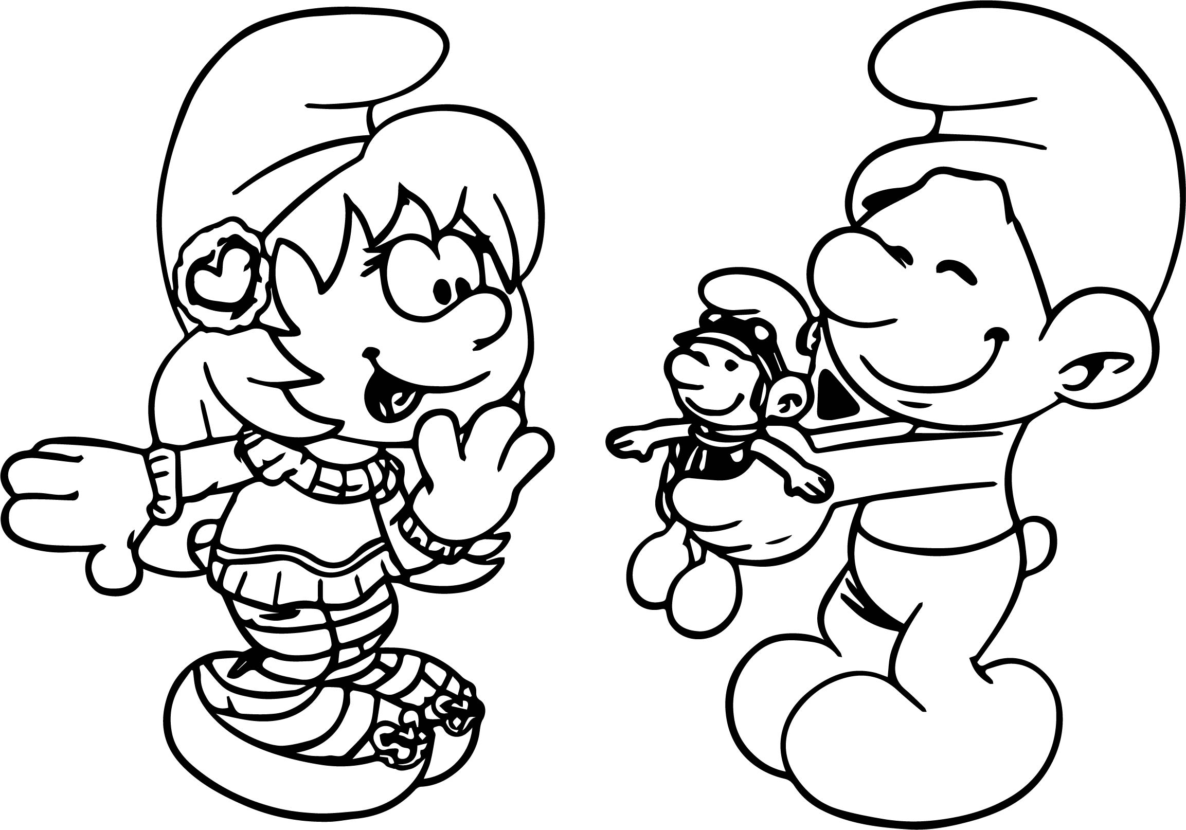For You Toy Smurf Coloring Page