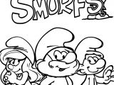 Four Smurf Tastic Episodes Coloring Page