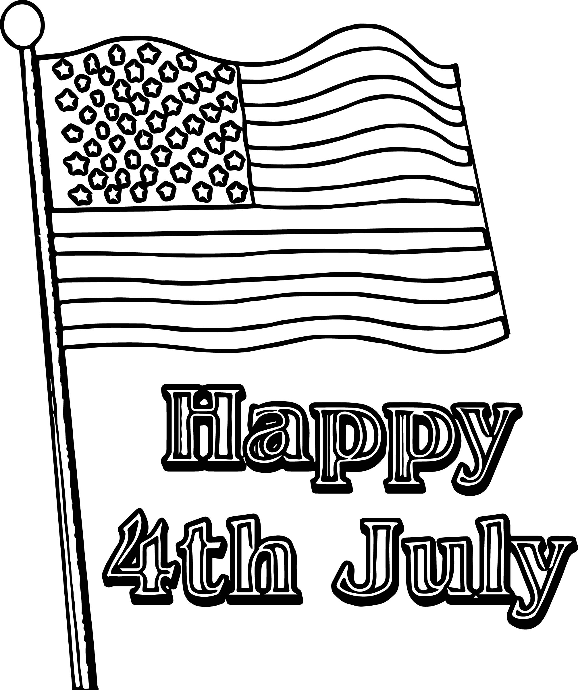 fourth 4th july coloring page wecoloringpage