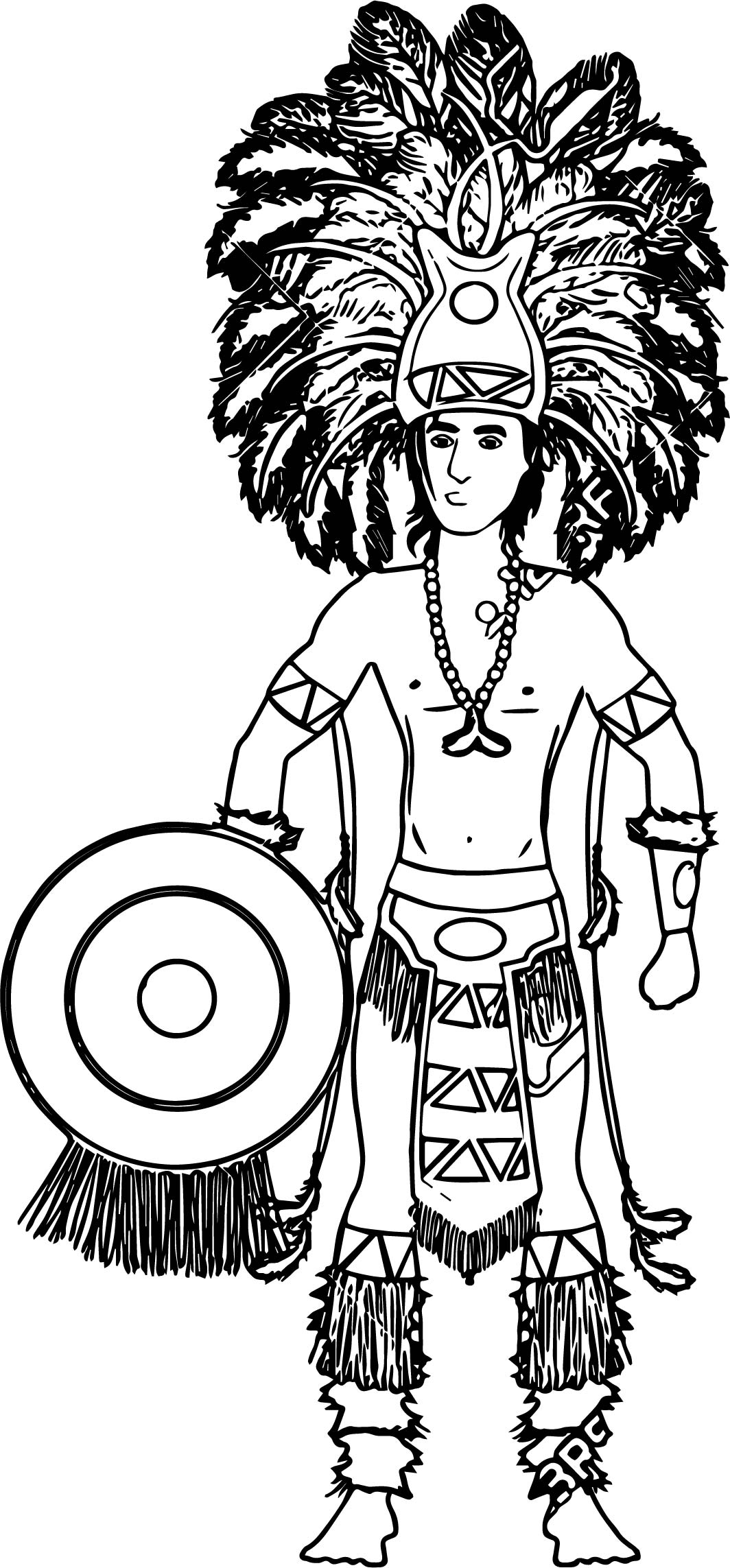 Aztec Free Illustrations Coloring Page Wecoloringpage