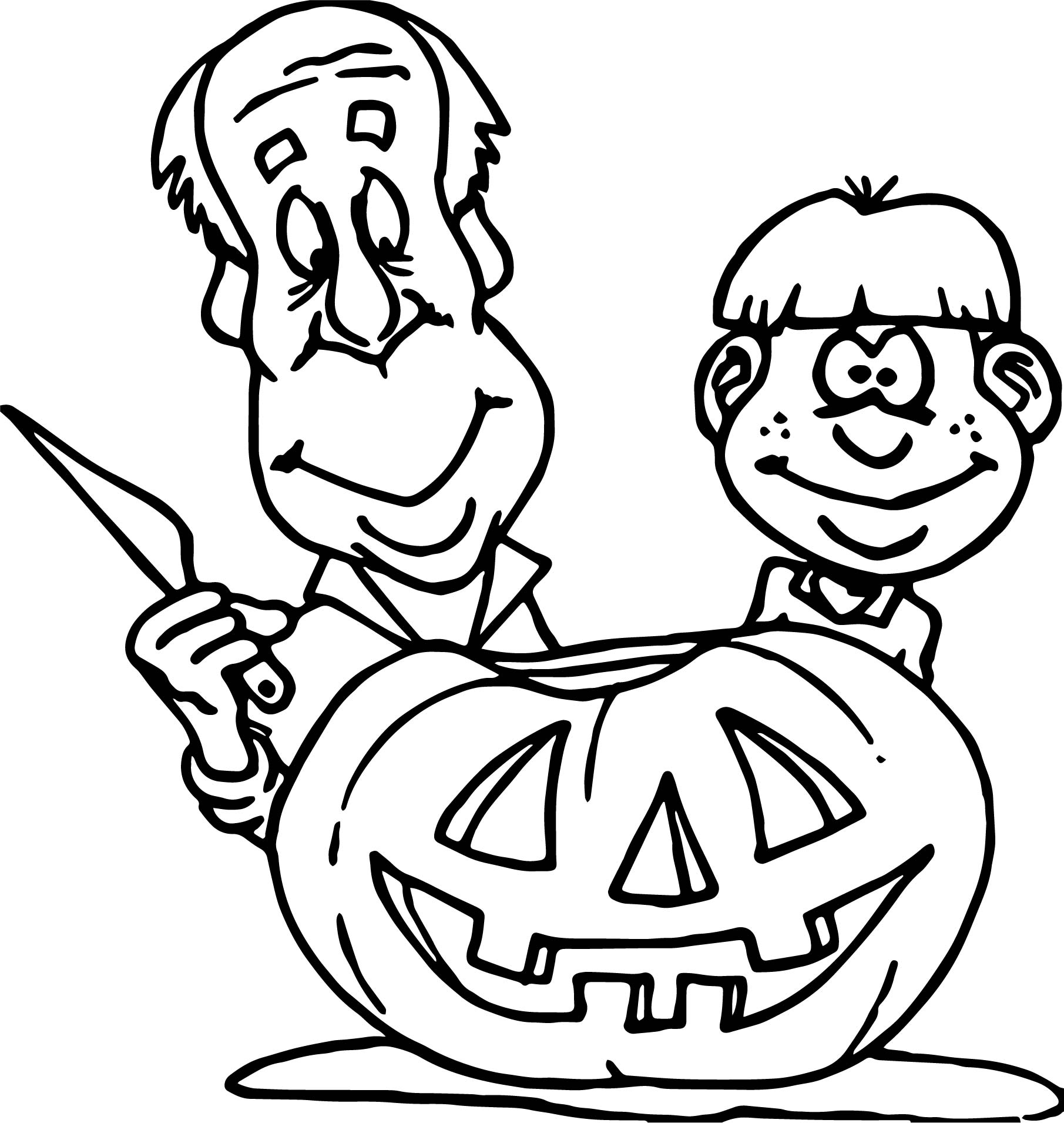 Free Pumpkin Art Coloring Page