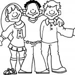 Friends Activity Coloring Page