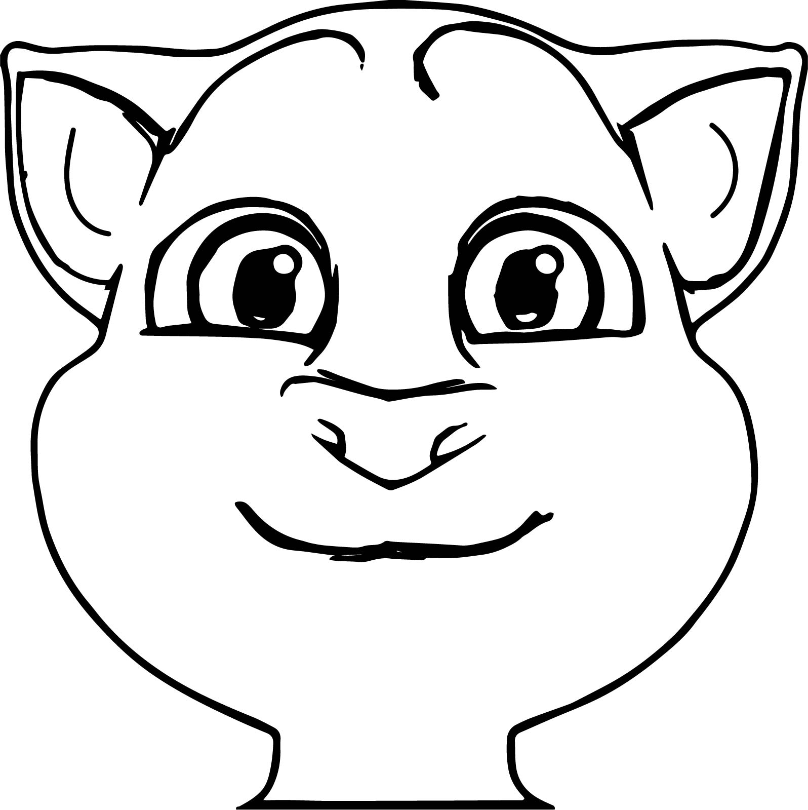 front talking tom cat coloring page wecoloringpage