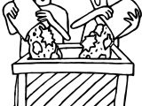Garden Cleaning Activity Coloring Page