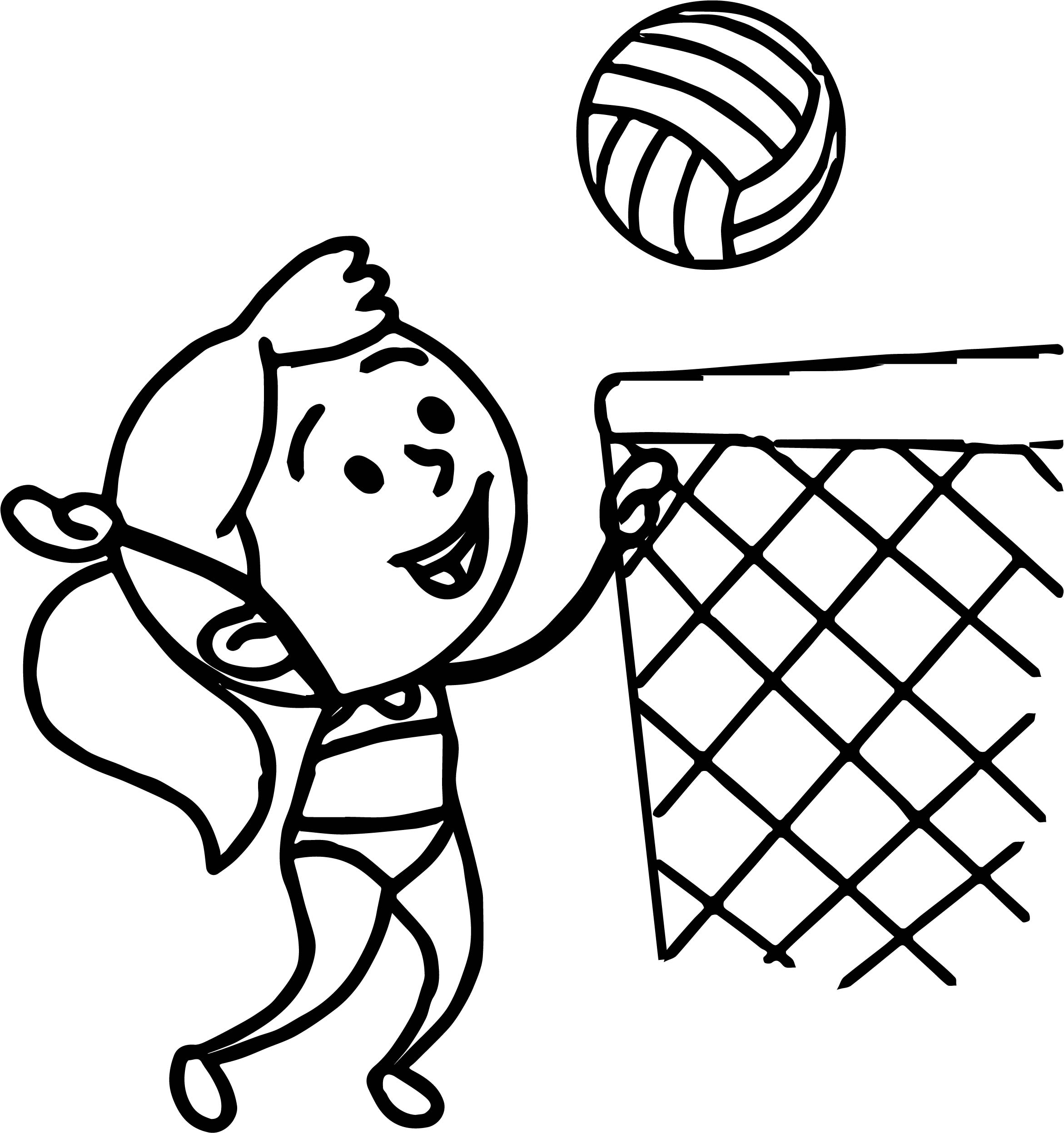 volleyball net coloring pages - photo#12