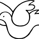 Hanukkah Dove Peace Coloring Page