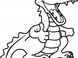 Happy Crocodile Alligator Coloring Page
