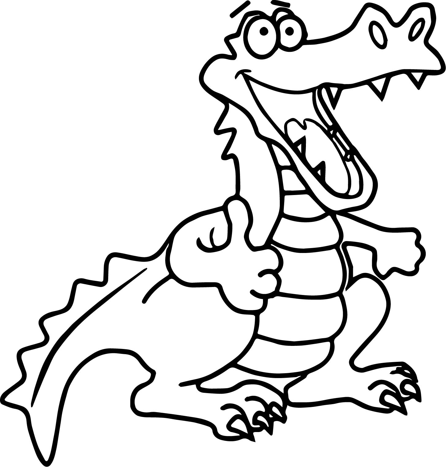 happy crocodile alligator coloring page - Alligator Coloring Page