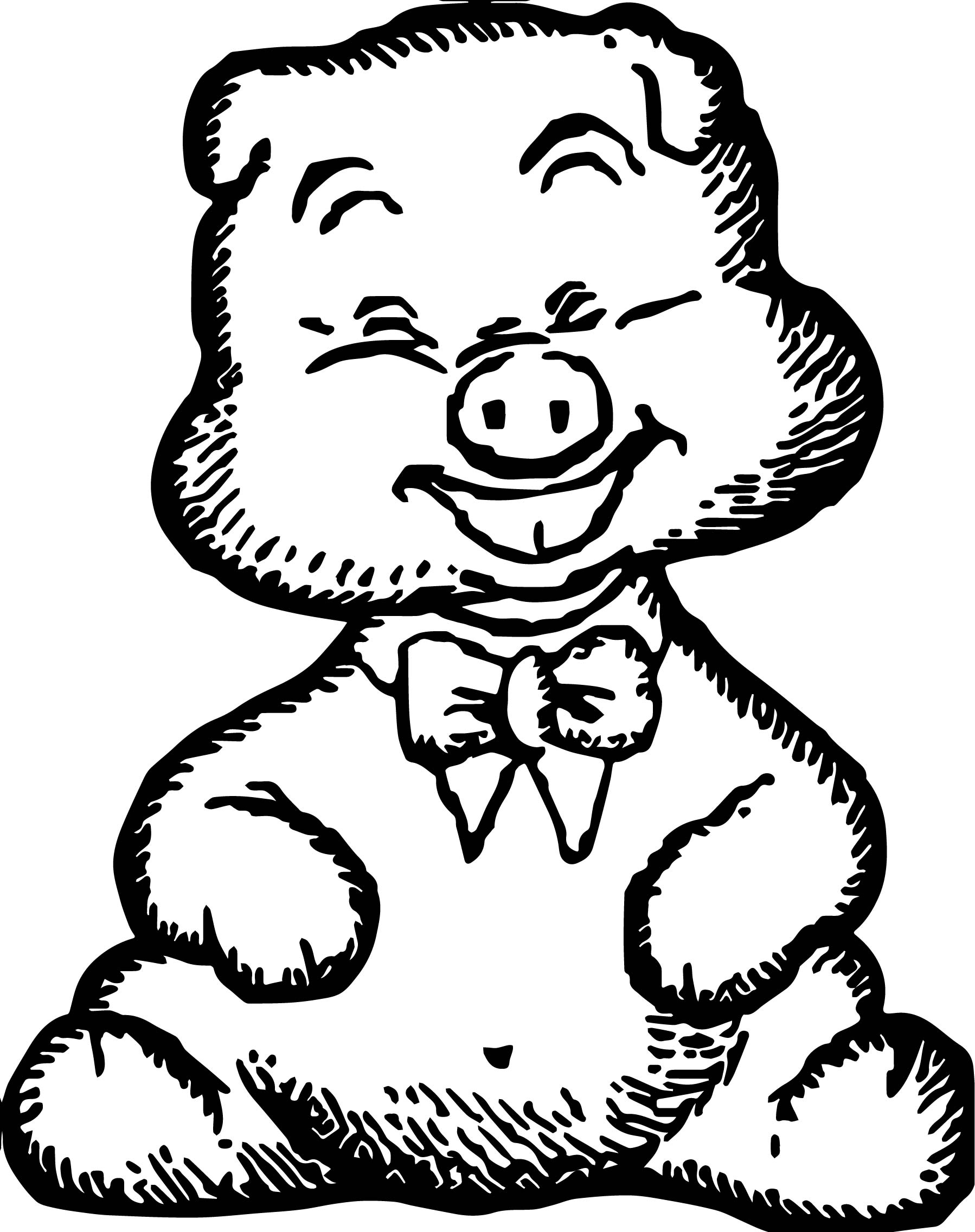 happy pig baby farm animal coloring page wecoloringpage